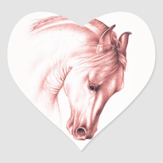 Andalusian Beauty In Sepia Heart Sticker