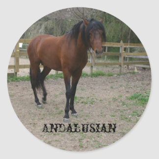 Andalusian Classic Round Sticker
