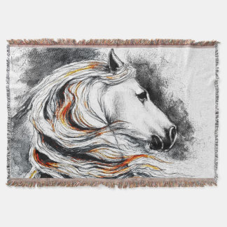 Andalusian Comic Style Throw Blanket