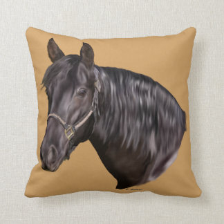 Andalusian Horse Art Print Throw Pillow