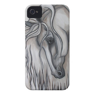 Andalusian Horse Black and White Case-Mate iPhone 4 Cases