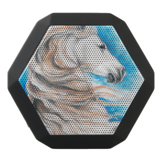 Andalusian Horse Blue Black Bluetooth Speaker