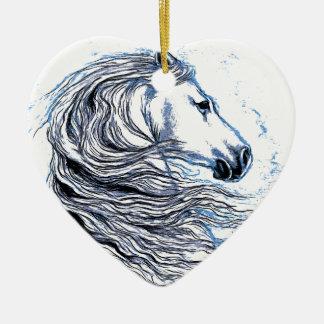 Andalusian Horse blue Ceramic Ornament