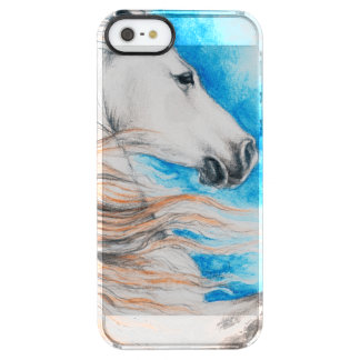 Andalusian Horse Blue Clear iPhone SE/5/5s Case
