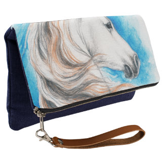 Andalusian Horse Blue Clutch