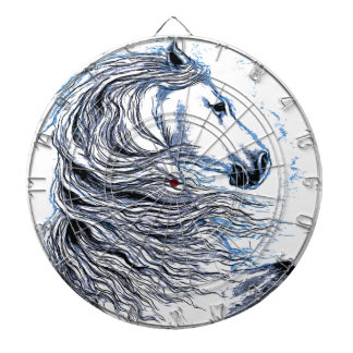 Andalusian Horse blue Dartboard