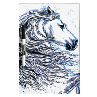 Andalusian Horse blue Dry Erase Board