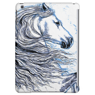 Andalusian Horse blue iPad Air Cover