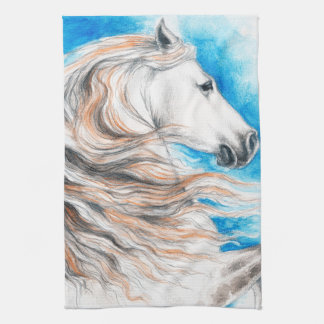 Andalusian Horse Blue Kitchen Towel