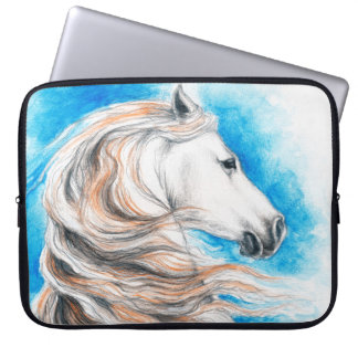 Andalusian Horse Blue Laptop Computer Sleeves