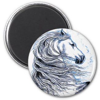 Andalusian Horse blue Magnet