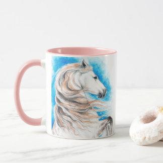 Andalusian Horse Blue Mug