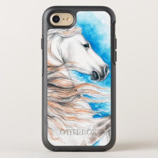 Andalusian Horse Blue OtterBox Symmetry iPhone 7 Case