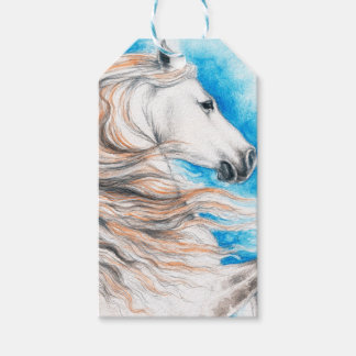 Andalusian Horse Blue Pack Of Gift Tags