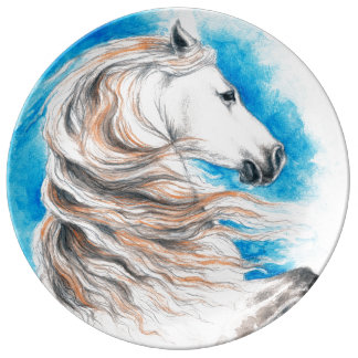 Andalusian Horse Blue Plate