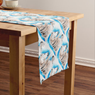 Andalusian Horse Blue Short Table Runner