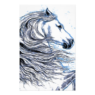 Andalusian Horse blue Stationery Design