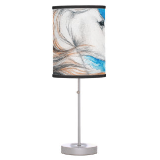 Andalusian Horse Blue Table Lamp