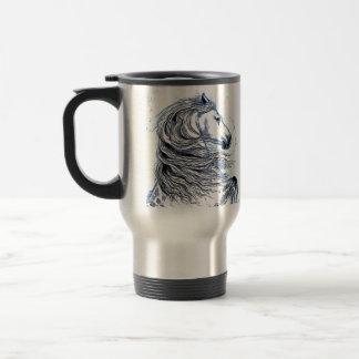 Andalusian Horse blue Travel Mug