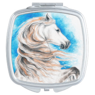 Andalusian Horse Blue Vanity Mirror