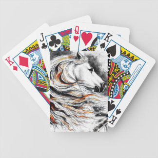 Andalusian Horse Comic Bicycle Playing Cards
