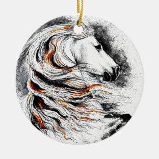 Andalusian Horse Comic Ceramic Ornament