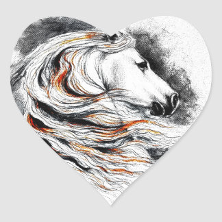 Andalusian Horse Comic Heart Sticker