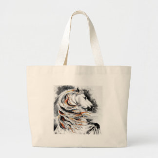 Andalusian Horse Comic Large Tote Bag