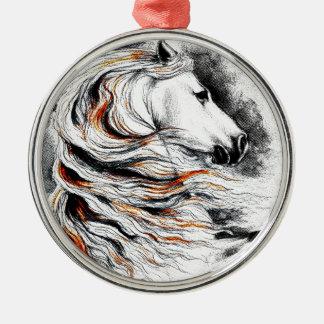 Andalusian Horse Comic Metal Ornament