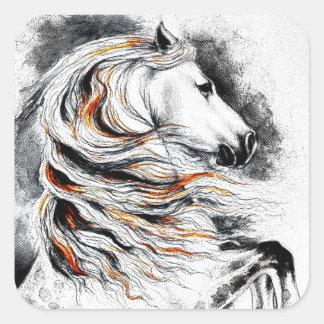 Andalusian Horse Comic Square Sticker