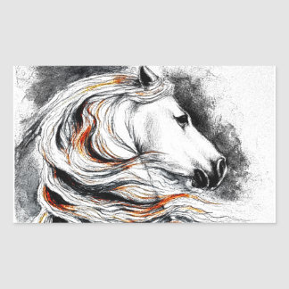 Andalusian Horse Comic Sticker