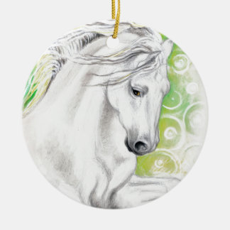 Andalusian Horse Green Ceramic Ornament