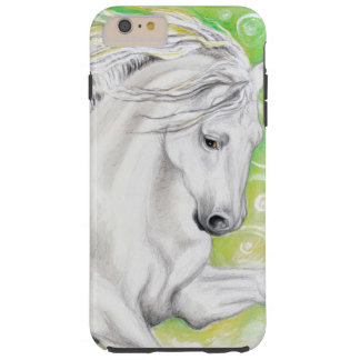 Andalusian Horse Green Tough iPhone 6 Plus Case