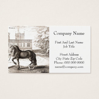 Andalusian Horse Vintage Drawing Art Business Card