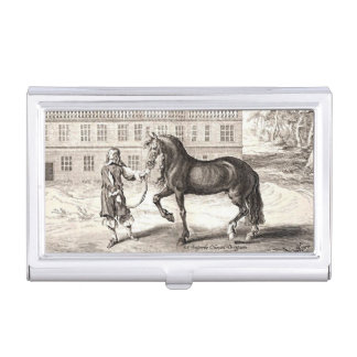 Andalusian Horse Vintage Drawing Art Business Card Holder