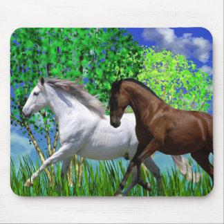 ANDALUSIAN HORSES RUNNING Mousepad