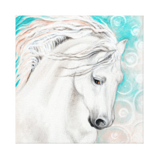 Andalusian In Blue Canvas Print
