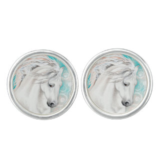 Andalusian In Blue Cuff Links