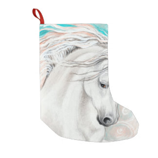 Andalusian In Blue Small Christmas Stocking