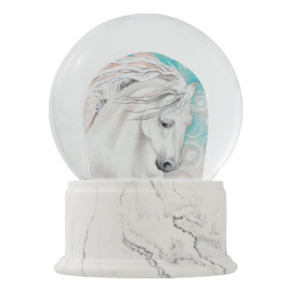 Andalusian In Blue Snow Globe