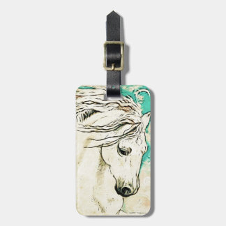 Andalusian In Bluelines block Bag Tag