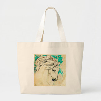 Andalusian In Bluelines block Large Tote Bag