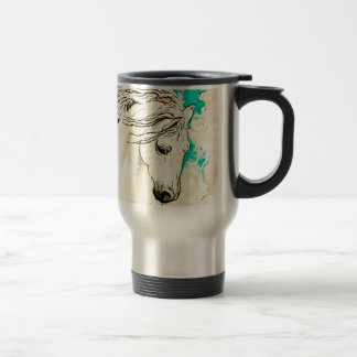 Andalusian In Bluelines block Travel Mug