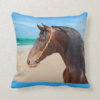 andalusian stallion throw pillow