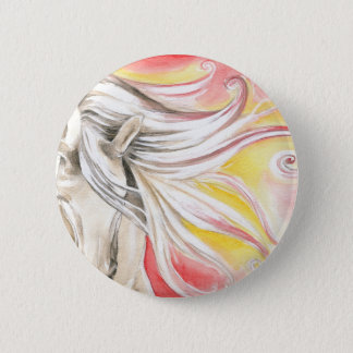 Andalusian Sunshine Horse 2 Inch Round Button
