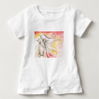 Andalusian Sunshine Horse Baby Romper