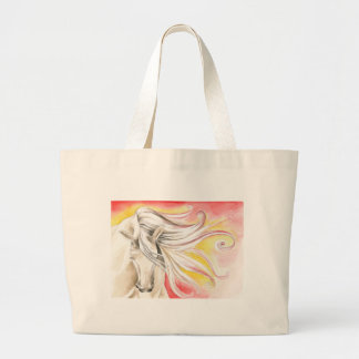 Andalusian Sunshine Horse Large Tote Bag