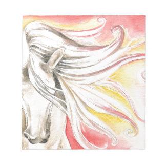 Andalusian Sunshine Horse Notepad