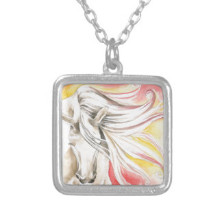 Andalusian Sunshine Horse Silver Plated Necklace