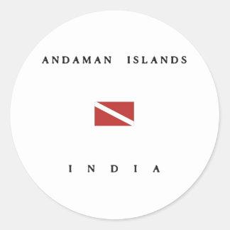Andaman Islands India Scuba Dive Flag Round Sticker